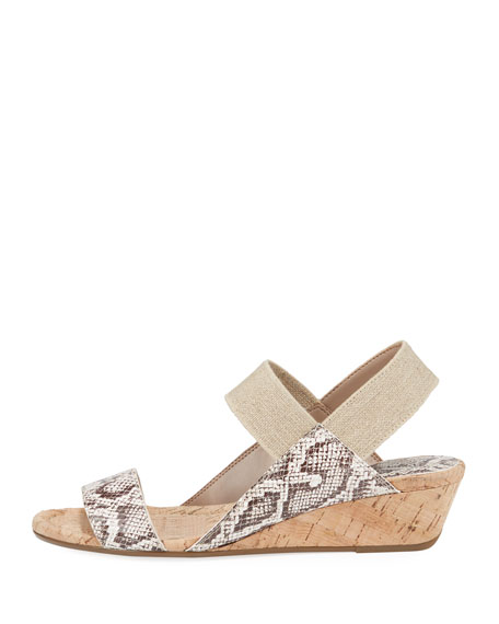 Donald J Pliner Elsie Embossed Demi-Wedge Sandals