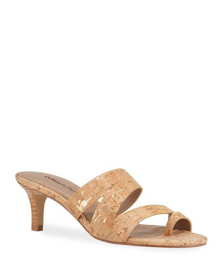 Donald J Pliner Klarisa Asymmetric Cork Slide Sandals