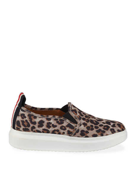 Veronica Beard Westley Leopard Slip-On Sneakers