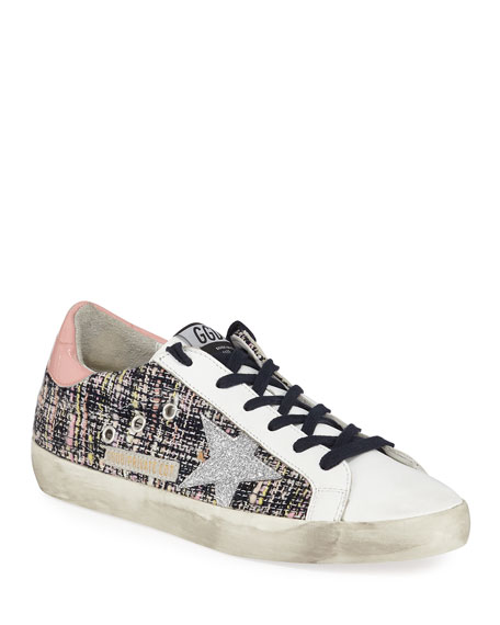 Golden Goose Superstar Boucle Lace-Up Sneakers