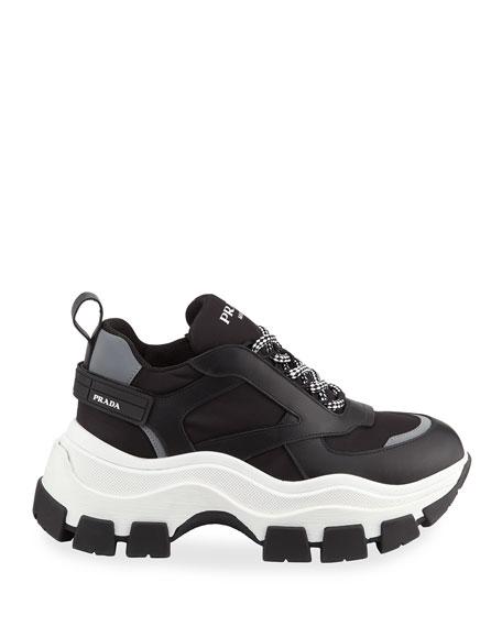 Prada Lace-Up Chunky Platform Sneakers
