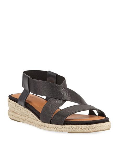 Aquatalia Maggie Demi Wedge Espadrille Sandals Neiman Marcus