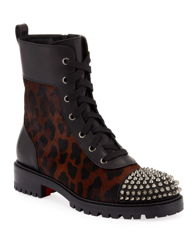 bottines louboutin leopard