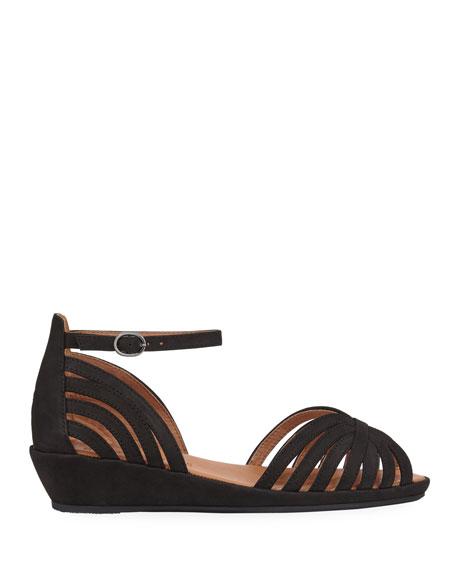 Gentle Souls Leah Strappy Demi-Wedge Comfort Sandals