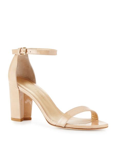 Stuart Weitzman Nearlynude Patent City Sandals