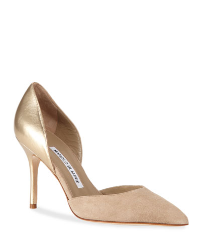 Tayler Leather and Suede Pumps