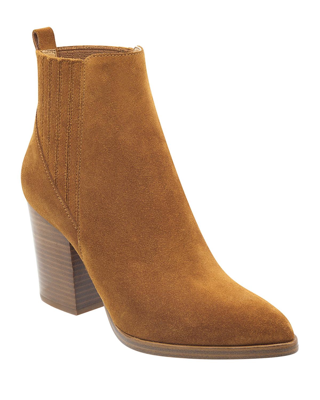 Alva Suede Pleated Chelsea Booties Marc Fisher Ltd Alva Bootie Shoes