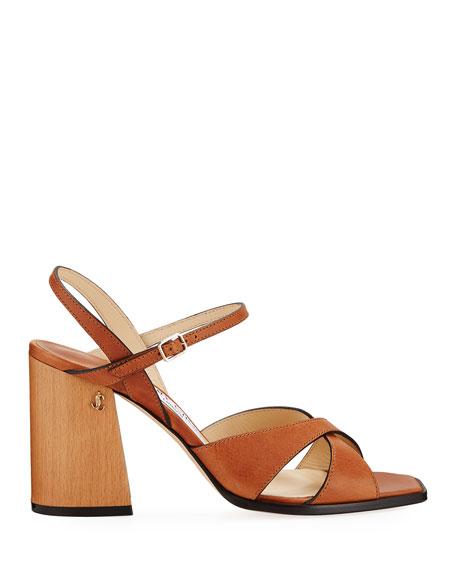 Jimmy Choo Joya 85mm Leather Sandals