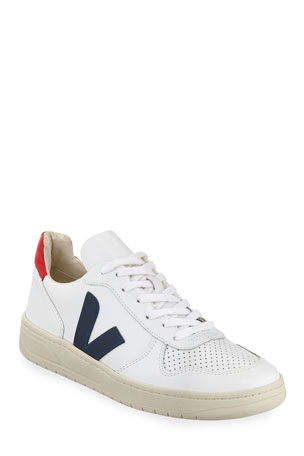 VEJA V 10 Mixed Media Low-Top Sneakers