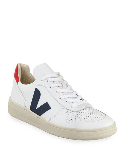 V 10 Mixed Media Low-Top Sneakers