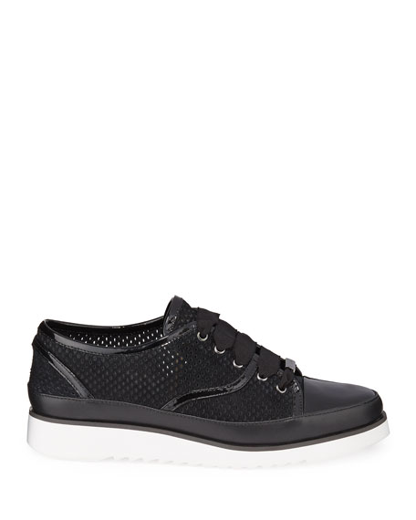 Donald J Pliner Flipp Perforated Suede Sneakers