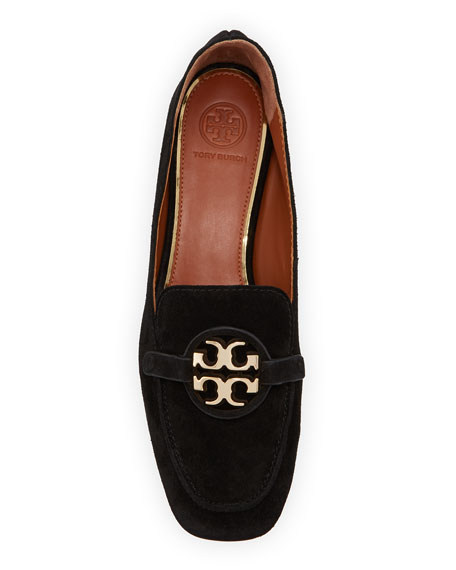 Tory Burch Miller Suede Metal Loafers