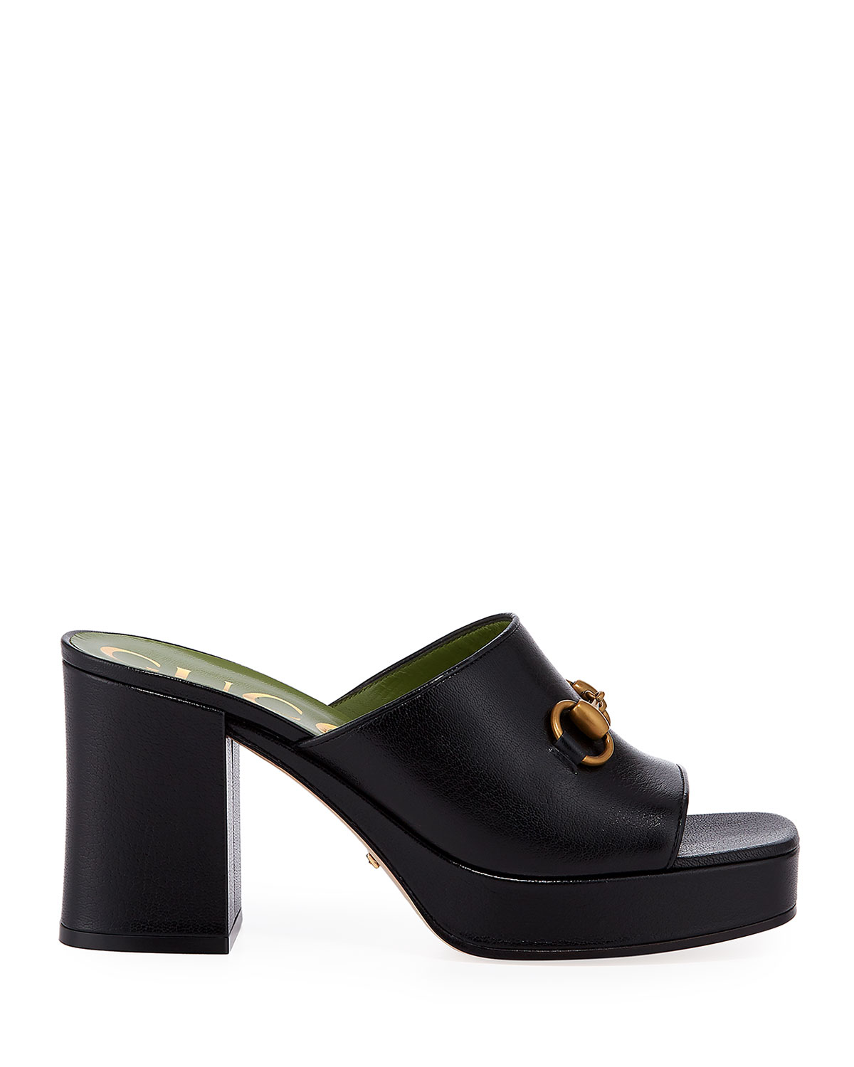 Houdan 85mm Leather Slide Sandals by Gucci