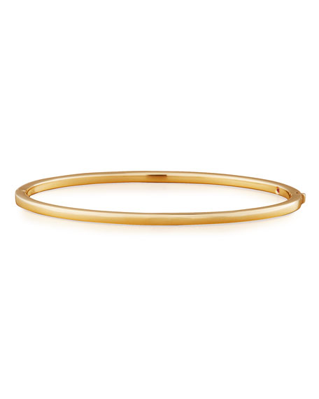 Roberto Coin 18k Gold Thin Oval Bangle