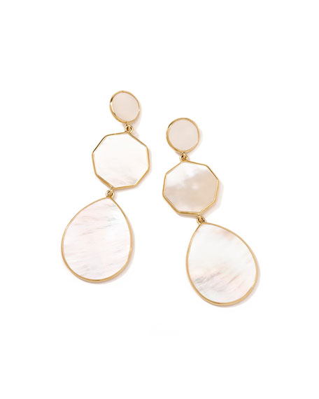 Ippolita 18k Gelato Crazy-Eight Earrings in Mother-of-Pearl