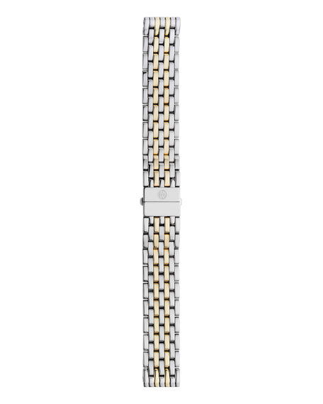 MICHELE Deco Diamond Two-Tone Watch Head & 18mm