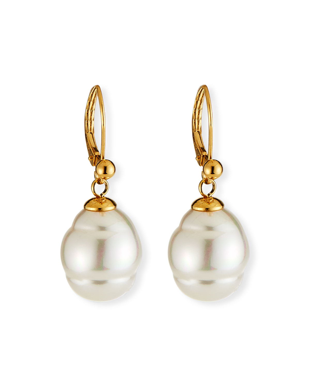 5a7ed146f Majorica 12mm Baroque Pearl Drop Earrings   Neiman Marcus