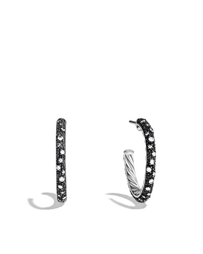 David Yurman Midnight Mélange Small Hoop Earrings with Diamonds