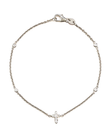 Tiny Treasure Diamond Cross Bracelet