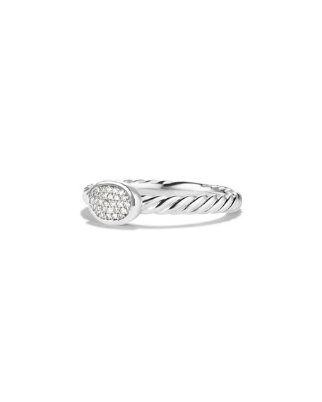 Cable Collectibles Oval Ring with Diamonds