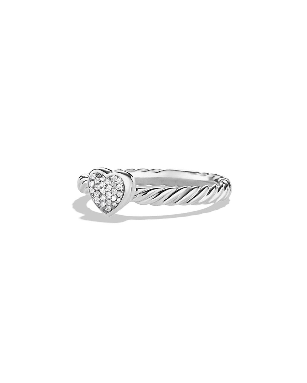 e0965b2bfd1aef David Yurman Petite Pave Heart Ring with Diamonds | Neiman Marcus