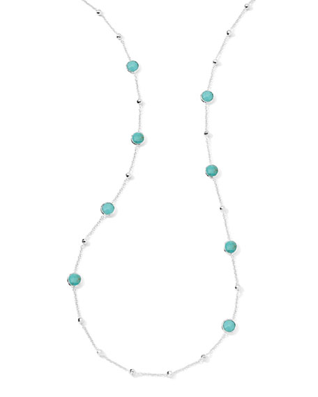 "Lollipop Turquoise Necklace, 37""L"