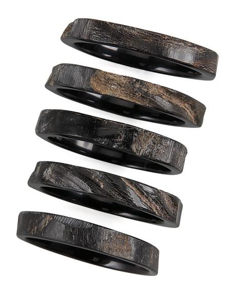 Set of Five Horn Bangles