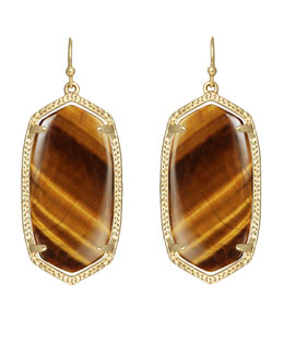 Kendra Scott Elle Earrings, Tiger's Eye