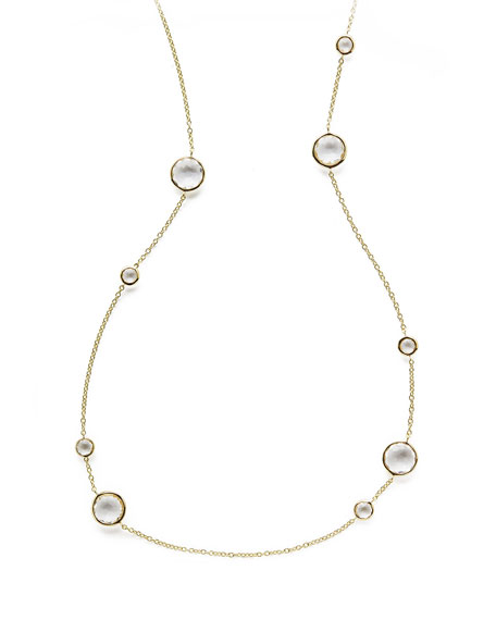 IppolitaClear Quartz Lollipop Necklace, 36