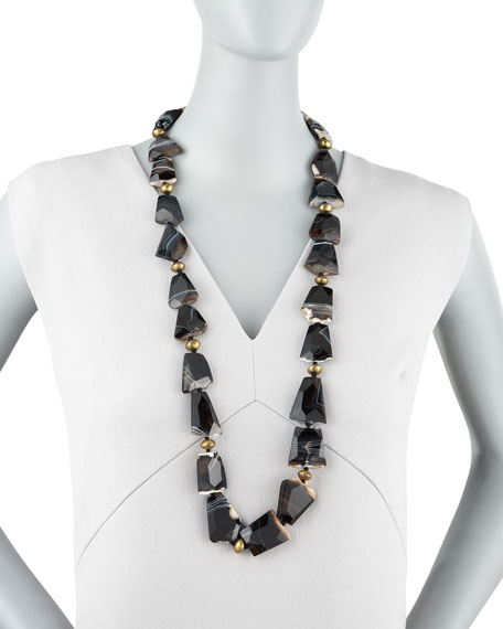Long Agate Necklace