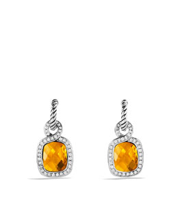 David Yurman Labyrinth Drop Earrings with Citrine and Diamonds