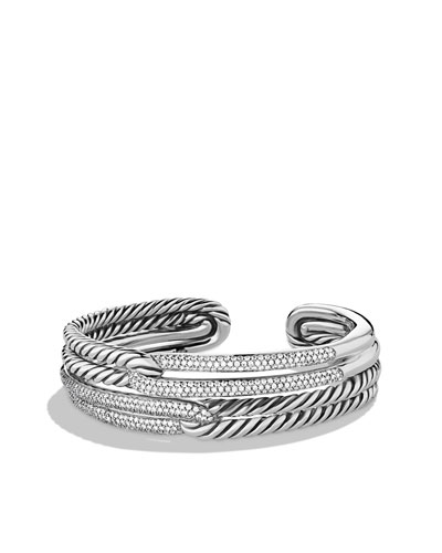 David Yurman Labyrinth Double-Loop Cuff with Diamonds