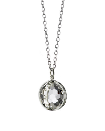 Silver Carpe Diem Pendant Necklace, 30
