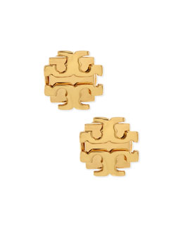 Tory Burch Small T-Logo Stud Earrings, Golden