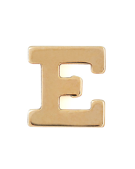 ZOË CHICCO 14K Yellow Gold Single Initial Stud Earring