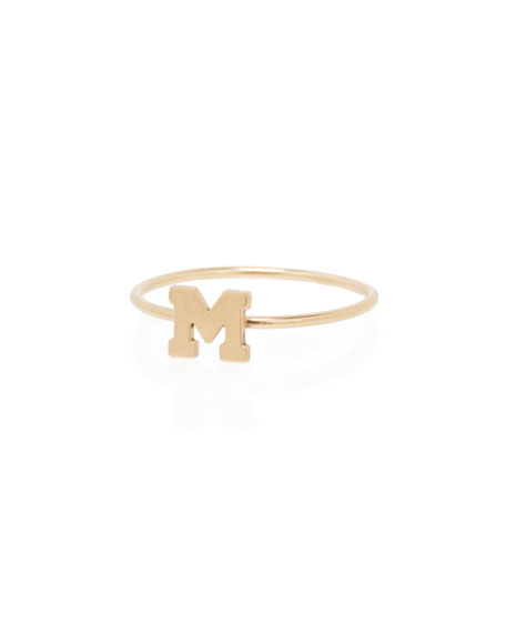 Zoe Chicco Gold Initial Ring