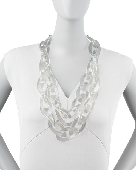 anthropologie bling crystals pin looped necklace and lucite