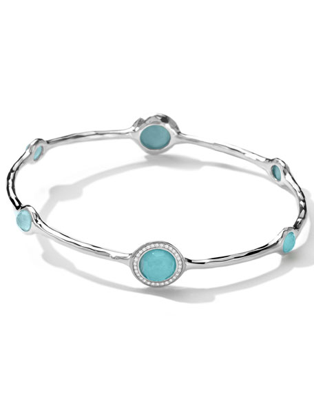 Stella Bangle in Turquoise Doublet with Diamonds