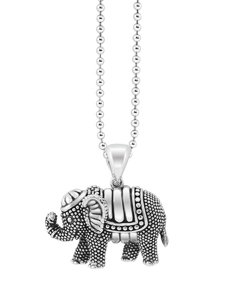 Rare Wonders Elephant Pendant Necklace, 34, Silver/ Elephant