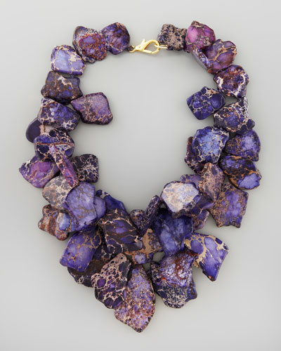 Nest Chunky Violet Jasper Necklace