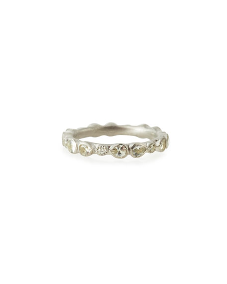ArmentaNew World Scattered Sapphire & White Diamond Band