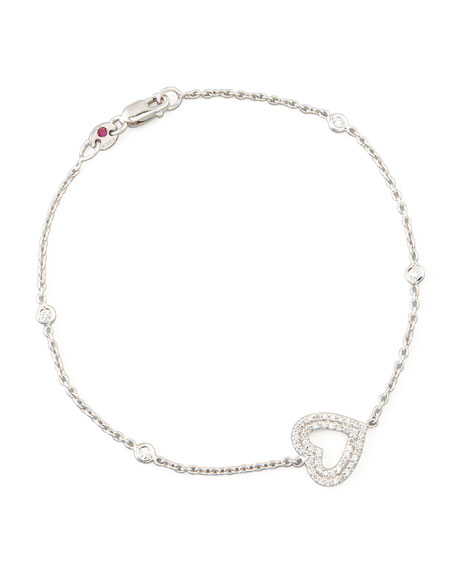 Roberto Coin White Gold Heart Diamond Bracelet
