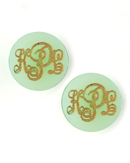 Providence Script Monogrammed Acrylic Stud Earrings