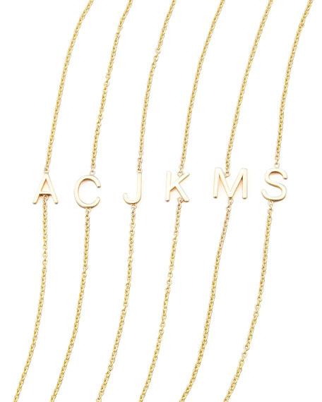 Maya Brenner Designs 14k Yellow Gold Letter Bracelet