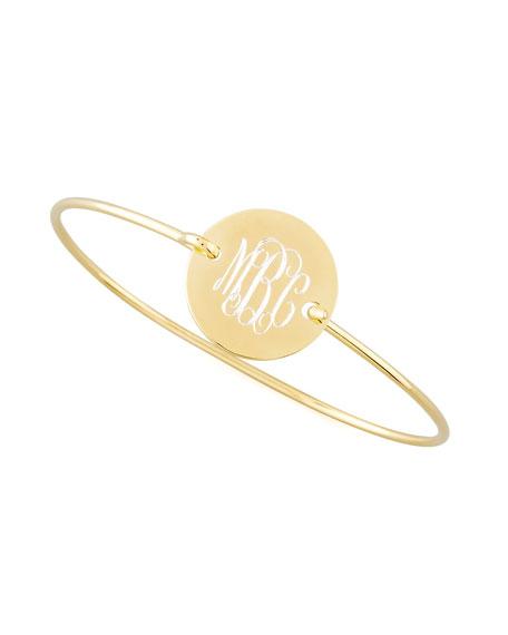 Sarah Chloe Chiara Monogrammed Circle Bracelet, Gold