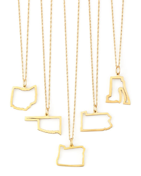 Maya Brenner 14k Gold Necklace, M-W & DC