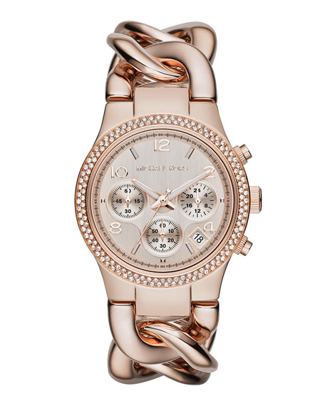 Rose Golden Runway Touch Of Glitz Watch
