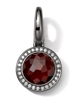 Ippolita Black Sterling Silver Garnet & Diamond Lollipop Charm
