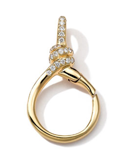 Ippolita 18k Gold Pave Diamond Twisted Wire Charm Holder