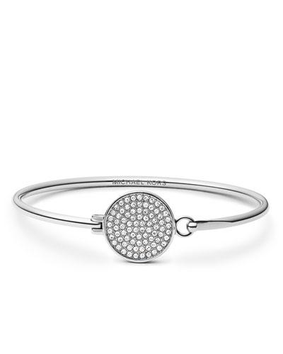 Michael Kors  Pave-Crystal Tension Bracelet, Silver Color